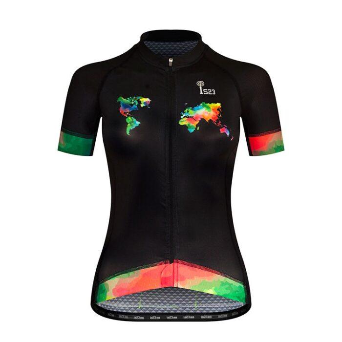 Maillot Corto Atenea Mundi Frontal - IS23 Tienda Online Ciclismo para Mujer