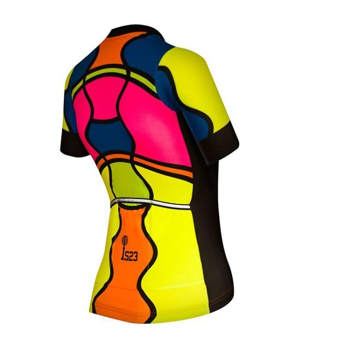 Maillot Corto Aura Mosaico Lateral - IS23 Tienda Online Ciclismo para Mujer