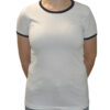 Camiseta Ringer Blanca - IS23 Tienda Online Ciclismo para Mujer