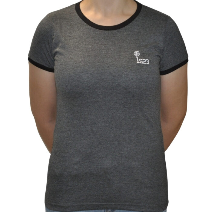 Camiseta Ringer Gris - IS23 Tienda Online Ciclismo para Mujer